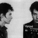 """Sid Vicious, bassist for the Sex Pistols, was arrested by New York police for the October 1978 murder of girlfriend Nancy Spungen. Sid's subsequent drug overdose spared him the indignity of a homicide trial."""